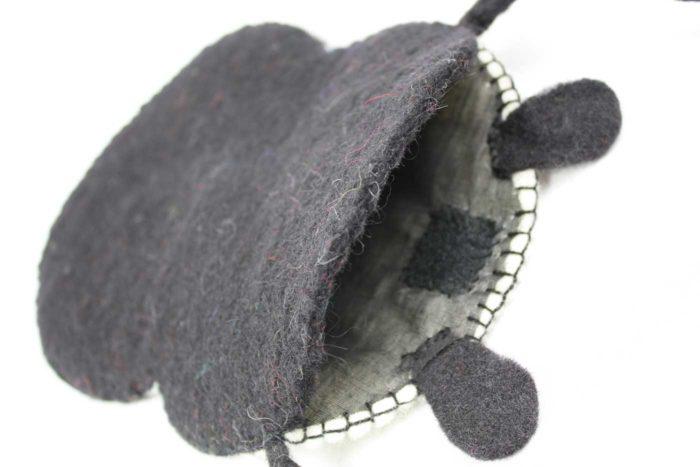 Filztasche PANDA  schwarz | weiss