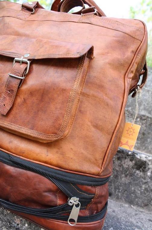 Ledertasche MAHARADJA (Rucksack-Reisetasche) Unisex
