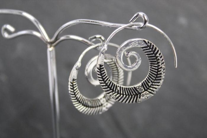 Ohrhänger SPIRAL FARN  Silber