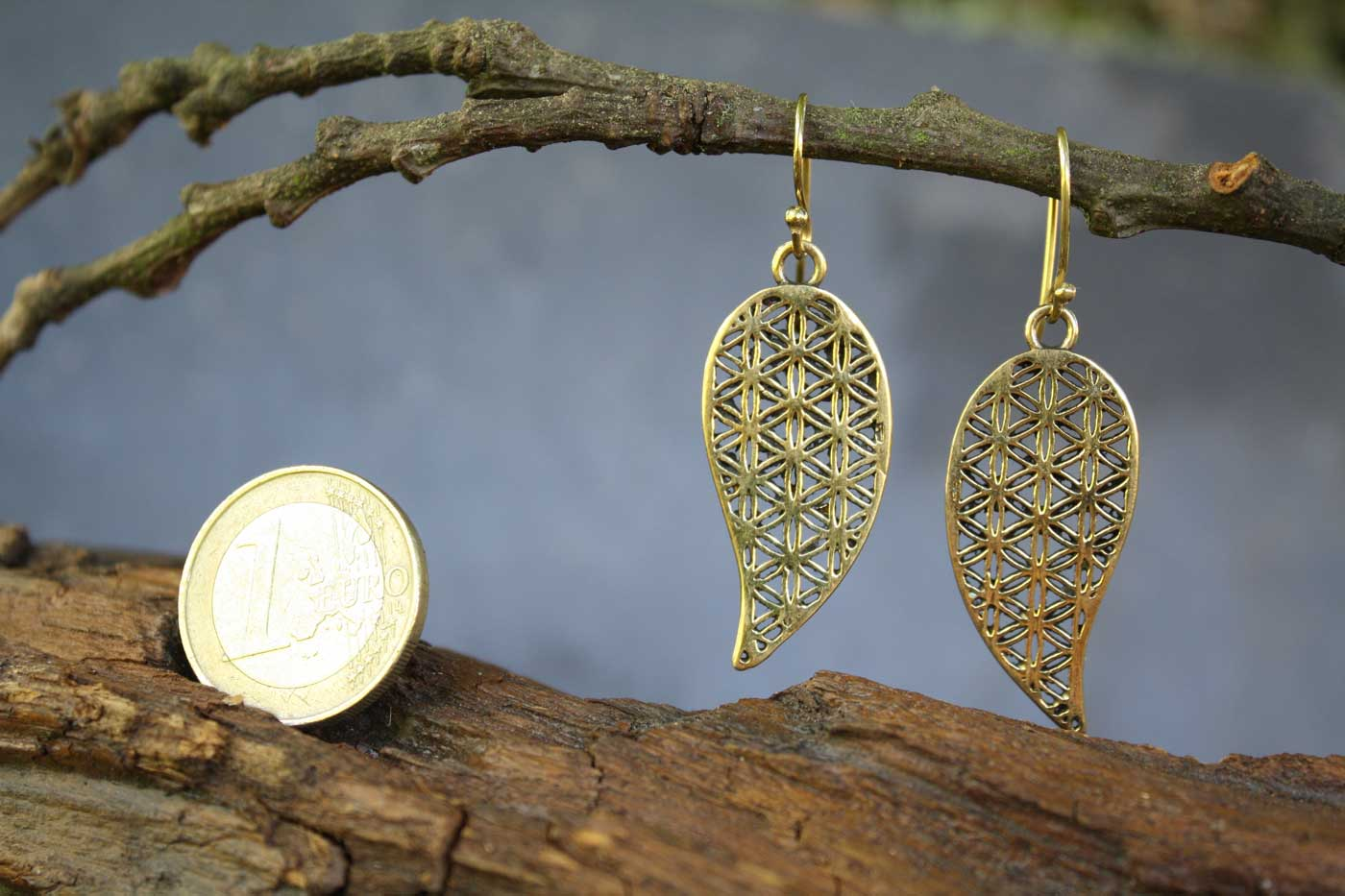 Ohrringe FLOWER DROPS Gold