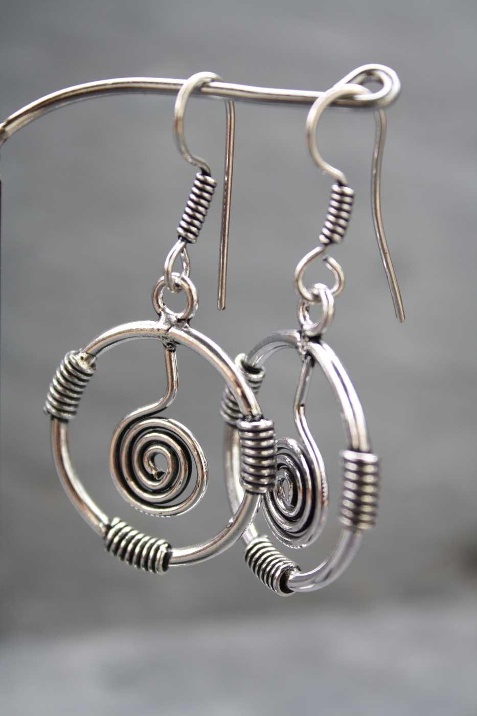 Ohrringe SPIRAL  Silber