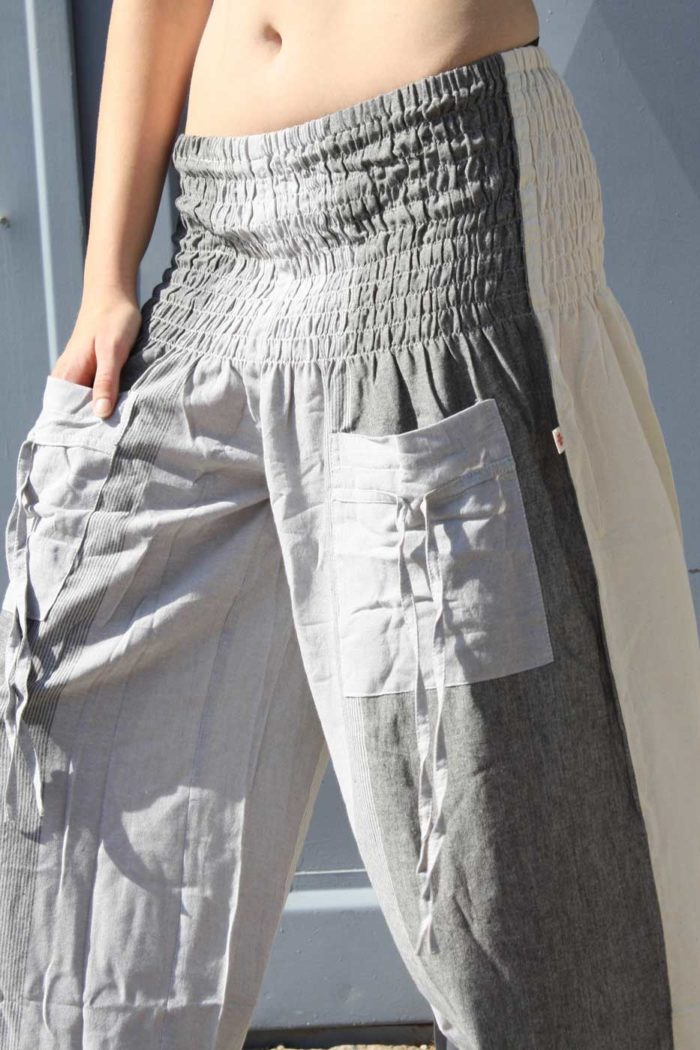 Pumphose Yogahose FLOW Damen Grau | Beige