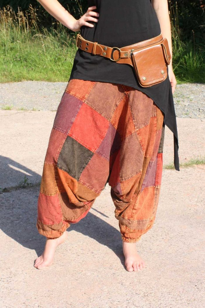 Pumphose Damen Patchwork | Rot