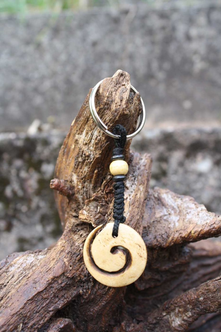 Schlüsselanhänger SPIRALE aus Horn