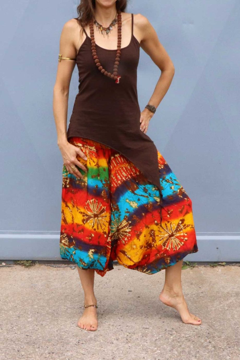 Alibaba Haremshose Hosenkleid Damen Regenbogen | Batik