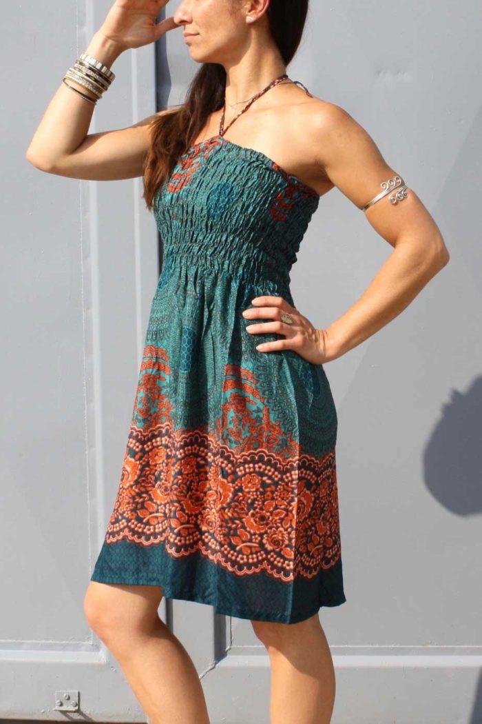 Kleidchen & Rock PAISLEY Damen Türkis |Orange