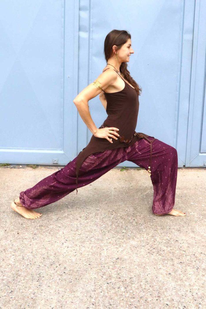 Luftige Pumphose Yogahose Damen Beere | Beige
