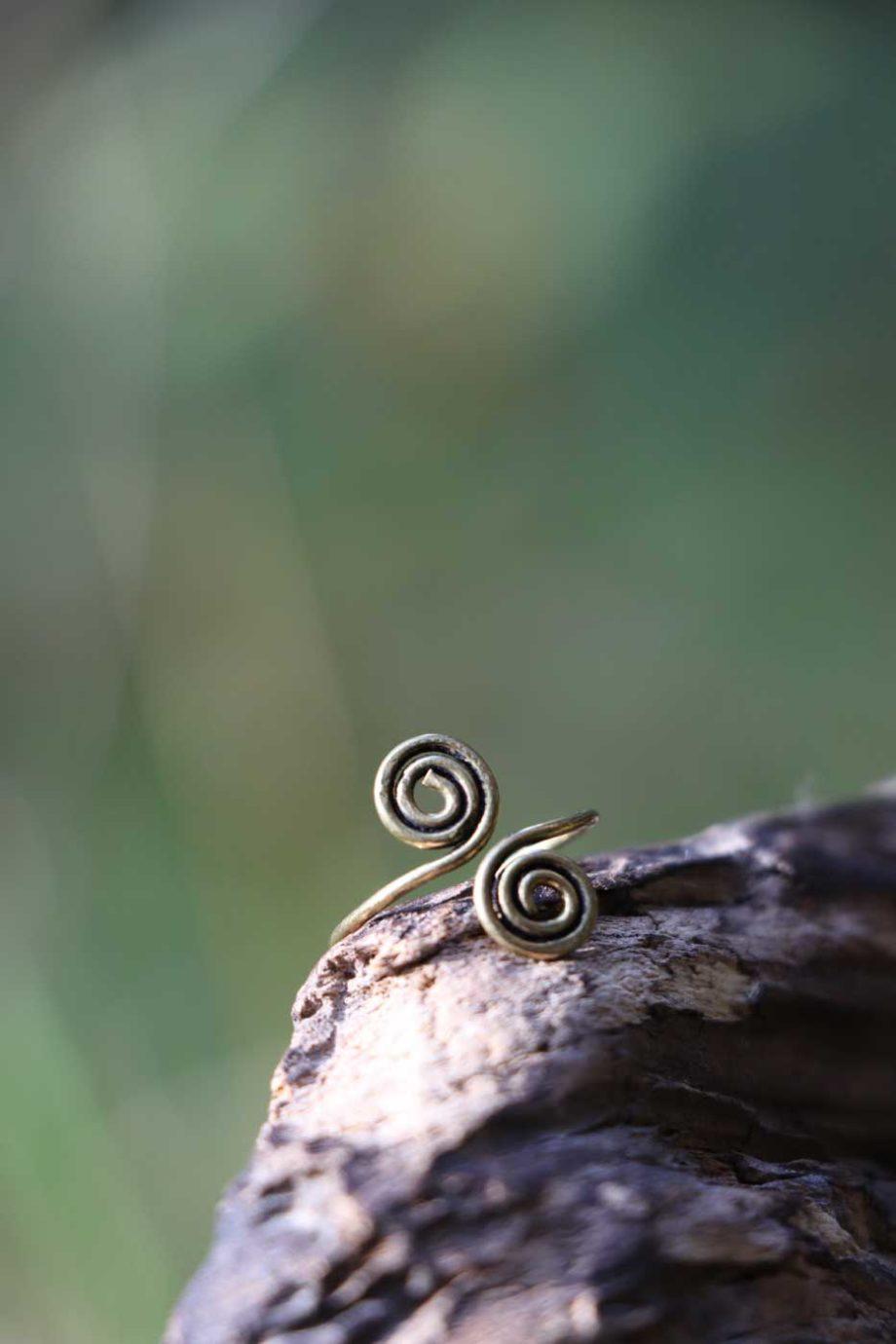 Ring SPIRAL E Zehenring  Gold