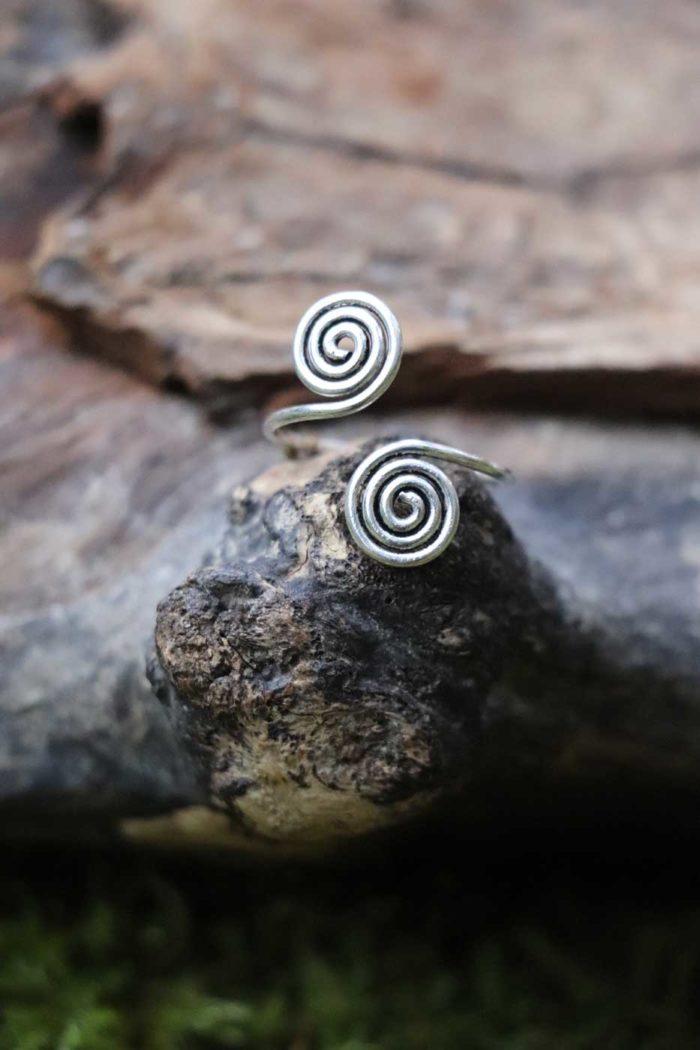 Ring SPIRAL E Zehenring  Silber