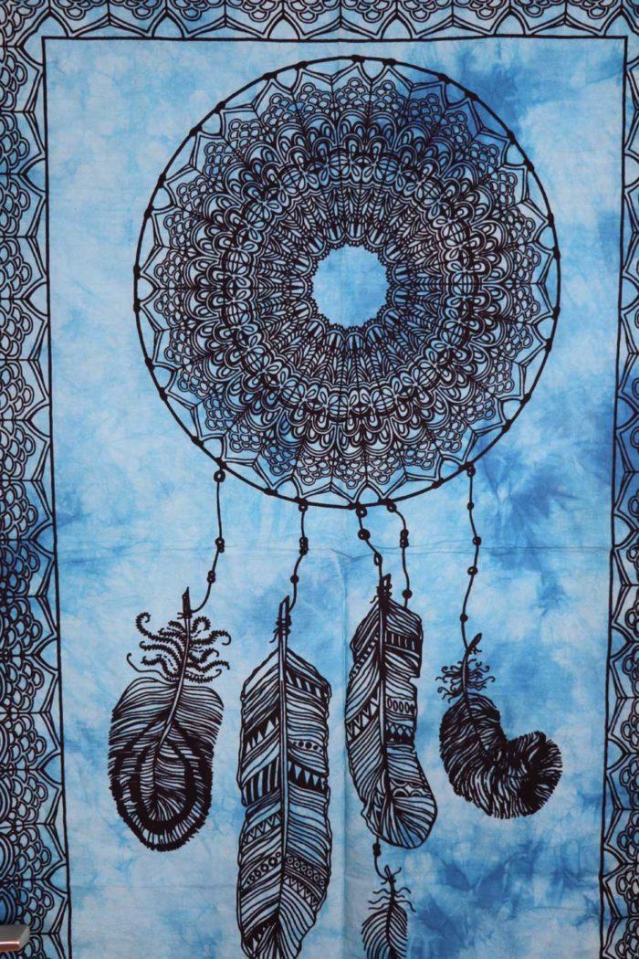 Wandbehang DREAMCATCHER  Hellblau | Batik