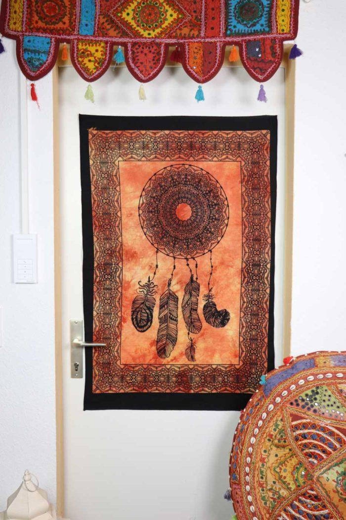 Wandbehang DREAMCATCHER  Orange   Batik