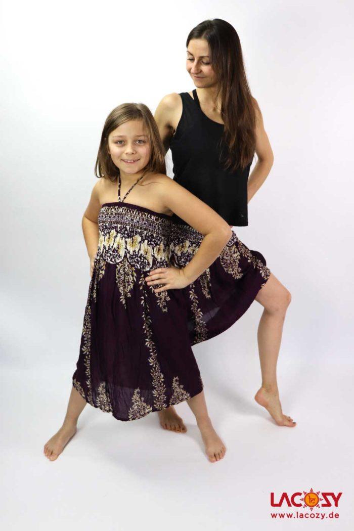 Kleidchen / Rock Mädchen Aubergine