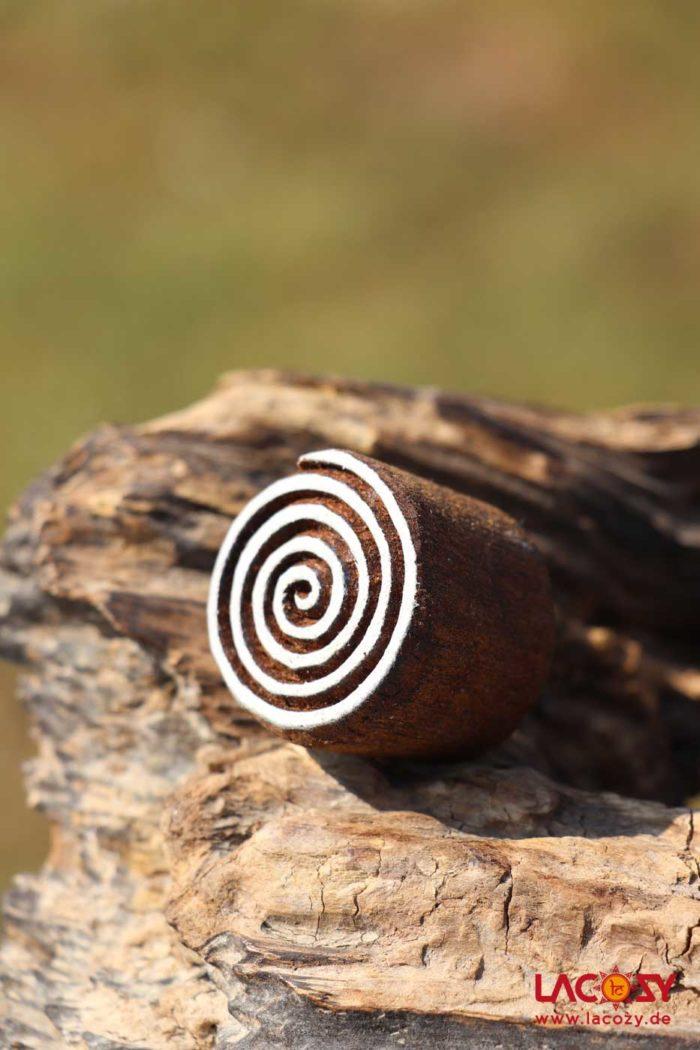 Holzstempel SPIRALE