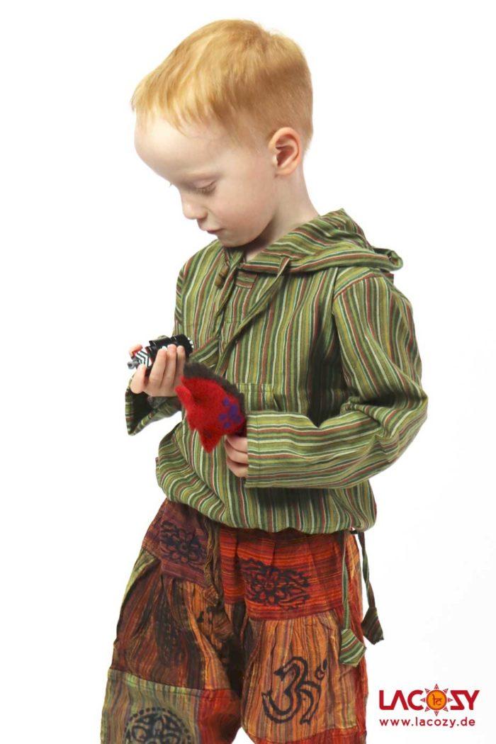 Hemd Fisherman Kurtha für Kids Unisex Grün