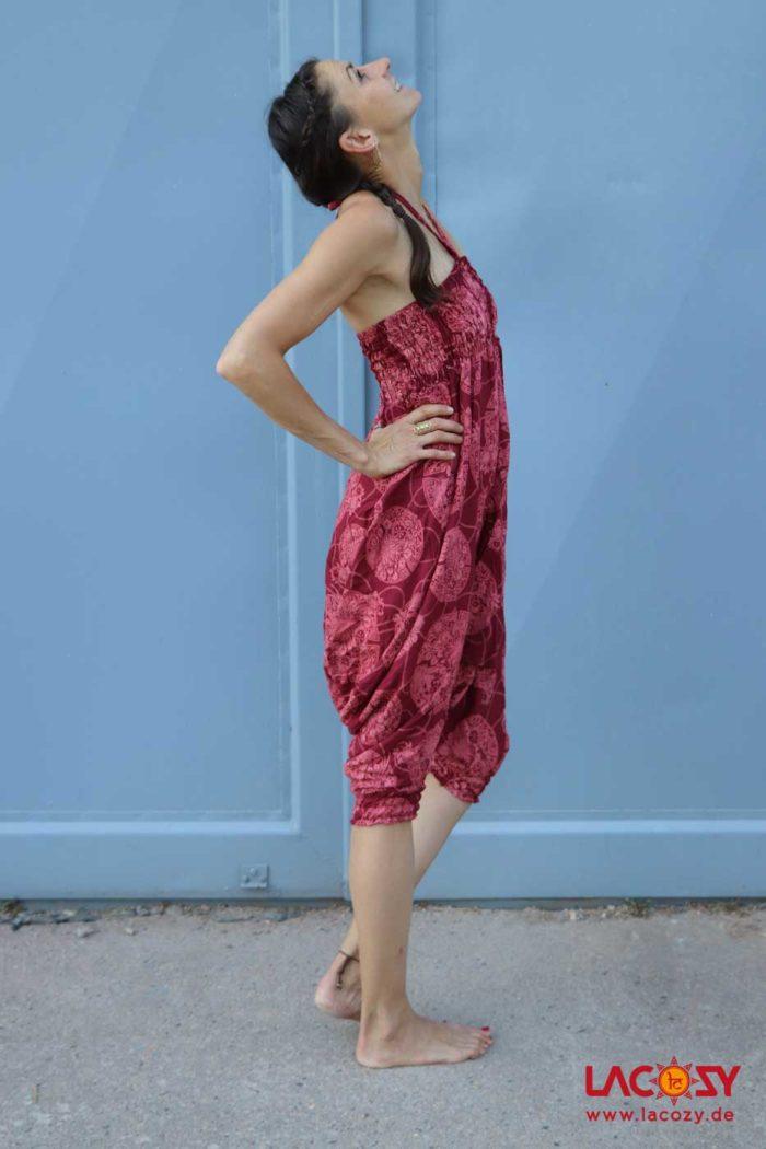 3-in-1 Allrounder: Hose-Oberteil-Kleidchen Damen Rot