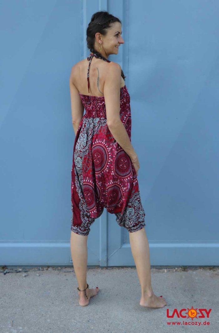 3-in-1 Allrounder: Hose-Oberteil-Kleidchen Damen Rot | Weiß | Grau