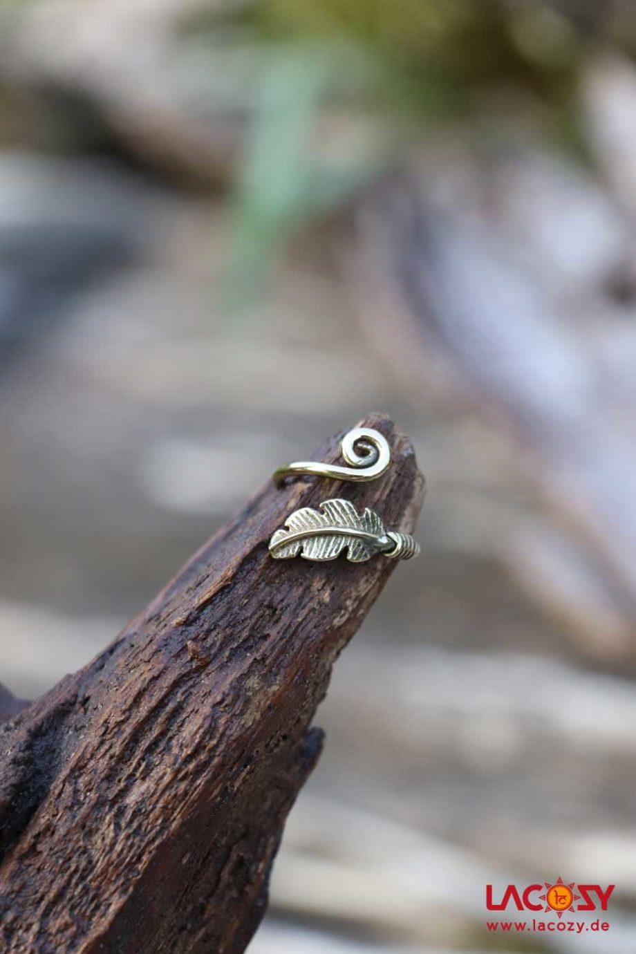 Ring FEDER SPIRALE  Gold