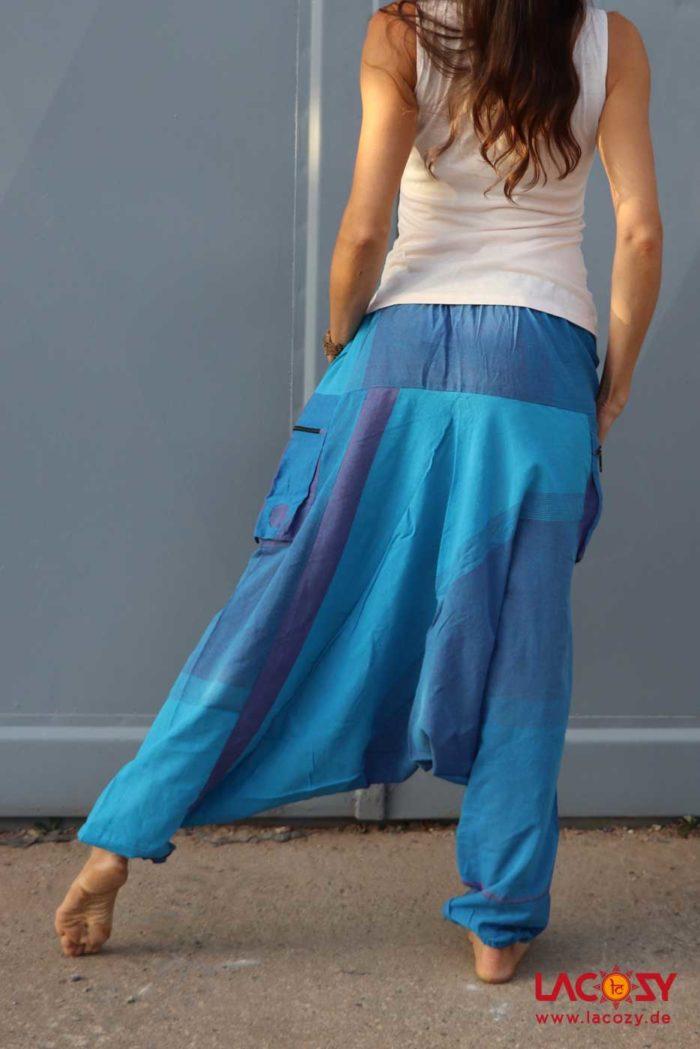 Haremshose Goahose RAM Unisex Blau | Lila