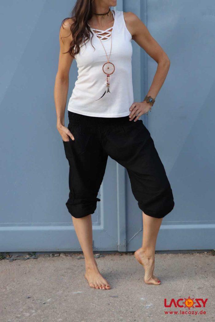 Pumphose Yogahose BLACK Damen Schwarz