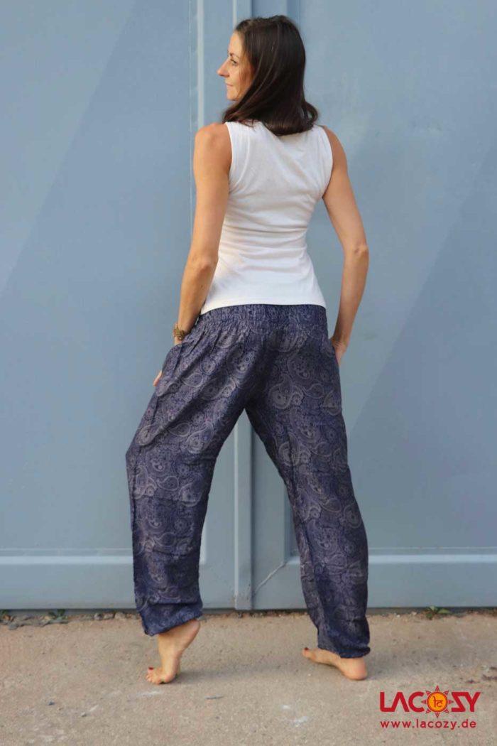 Pumphose Yogahose  BLUE SPIRAL Damen Blau