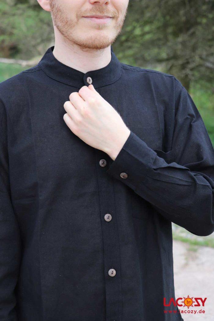 Herren-Hemd mit Manschetten Herren Schwarz