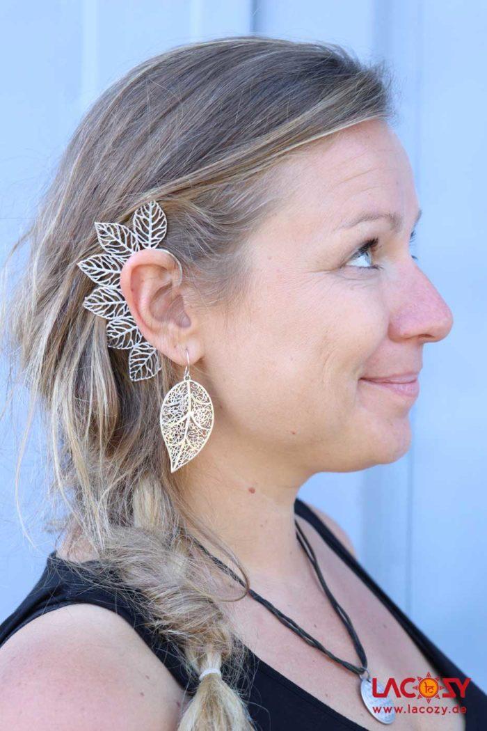 Ohr Manschette  Elfen Ohrring  NATURE  Silber