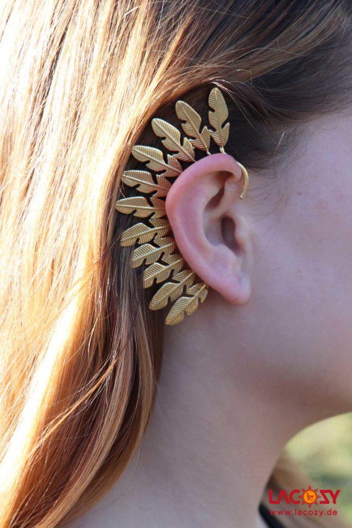 Ohr Manschette  Elfen Ohrring  TRIBAL  Gold