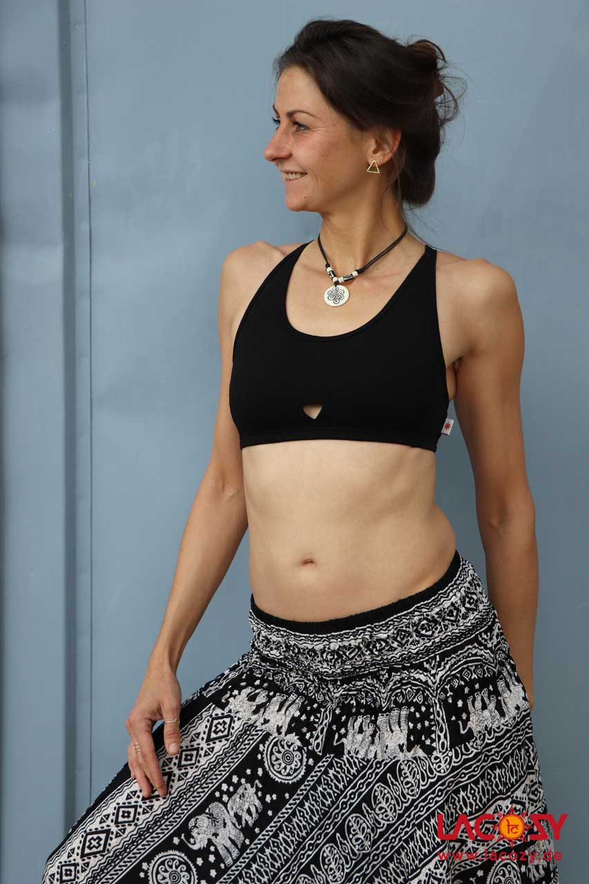 Yoga Top SKY Bustier Oberteil Damen Schwarz