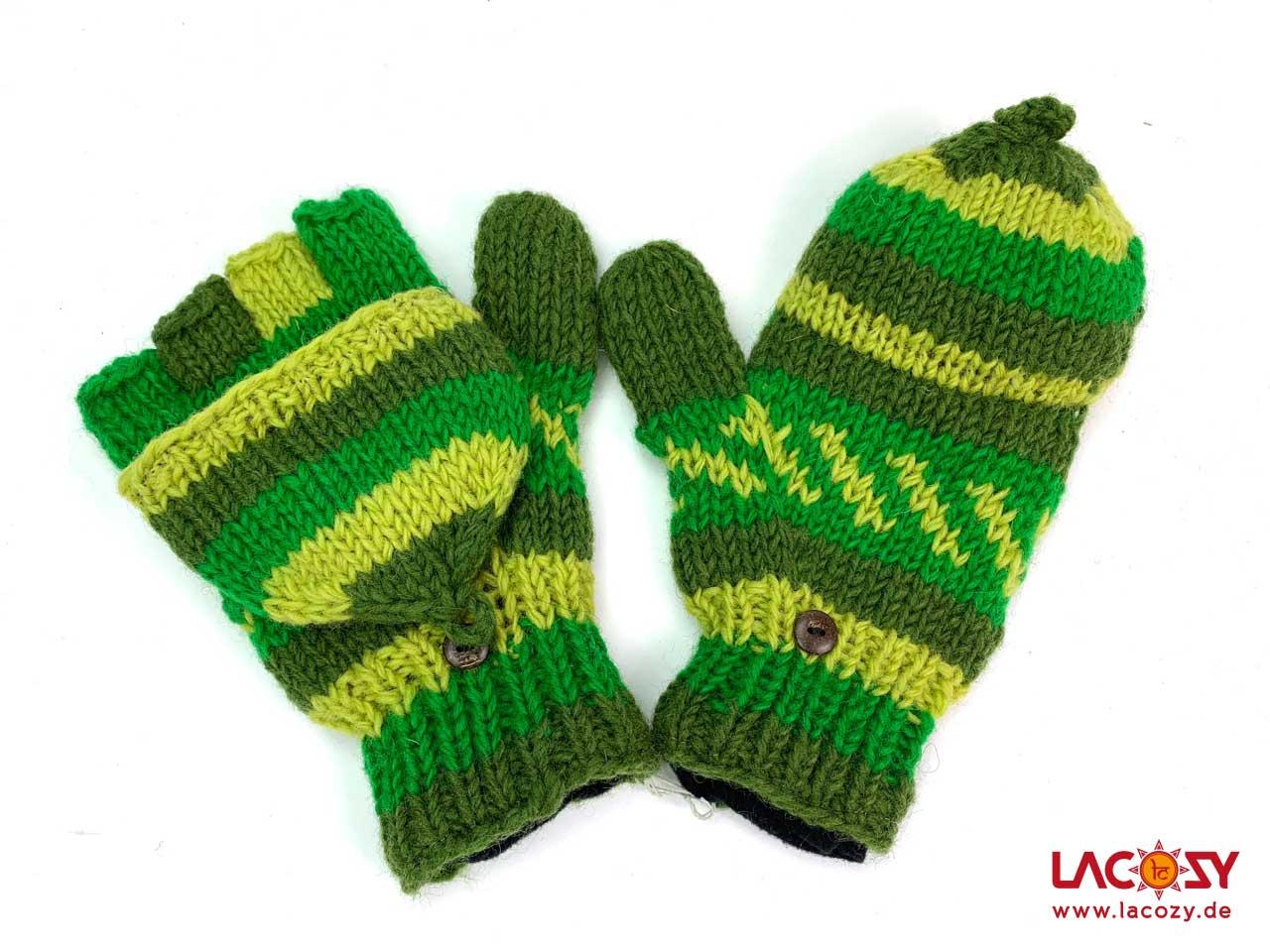 Praktische Handschuhe FLIP TOP Grün