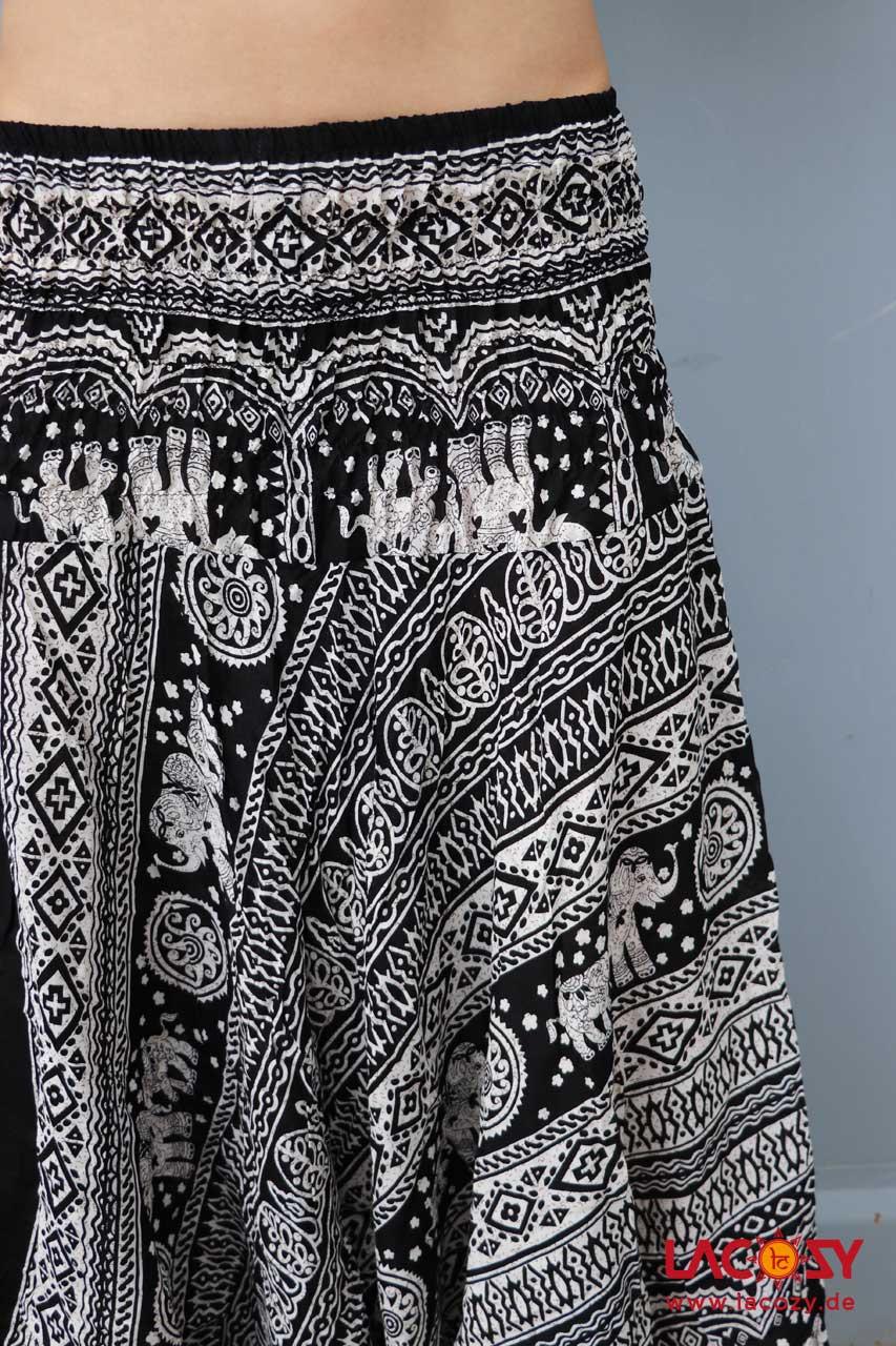 2727c275bd Alibaba Haremshose Hosenkleid Damen Schwarz | Weiß - LaCozy Onlineshop