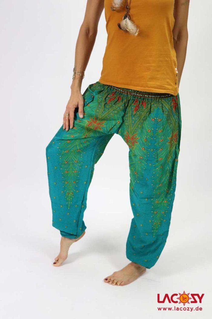 Luftige Pumphose Yogahose  FEDERN Damen Türkis