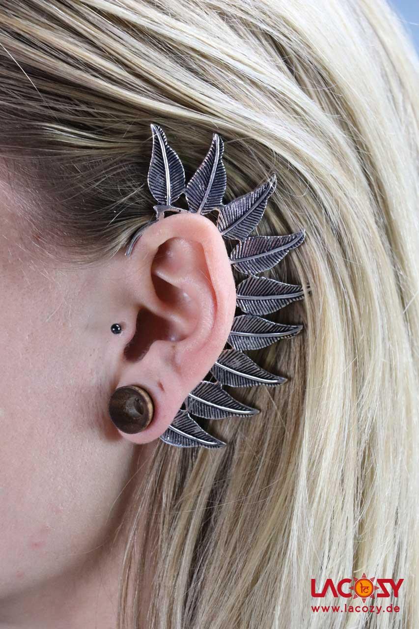 Ohr Manschette  Elfen Ohrring  LEAVES  Silber