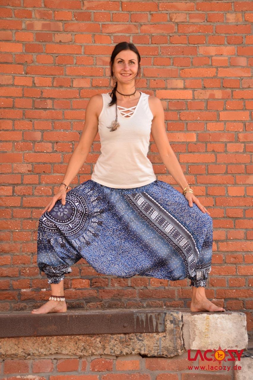 3-in-1 Allrounder: Hose-Oberteil-Kleidchen Damen Blau | Weiß | Grau