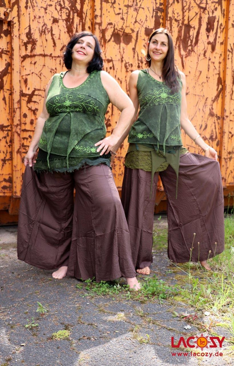 Luftig leichter Hosenrock HEAVON Damen Braun