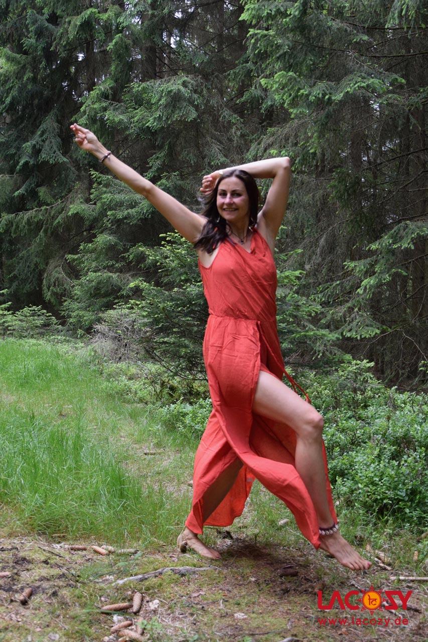 Jumpsuit mit offenem Bein KESHA Damen Lachs