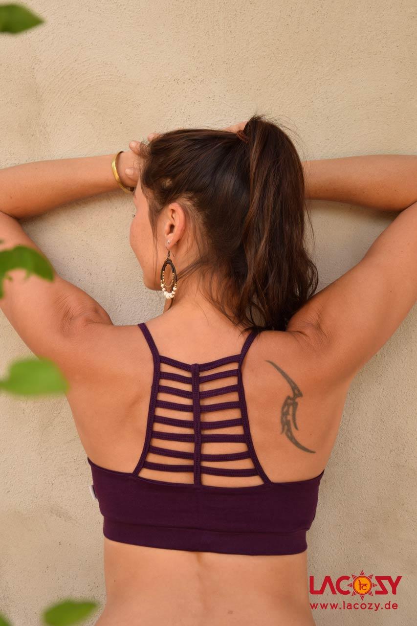 Bustier Top CHI Yoga Oberteil Damen Aubergine