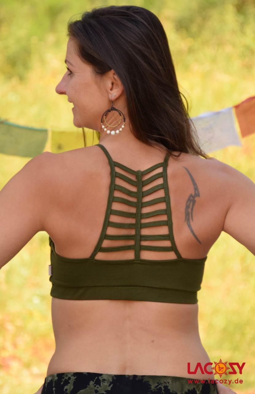 Bustier Top CHI Yoga Oberteil Damen Khaki