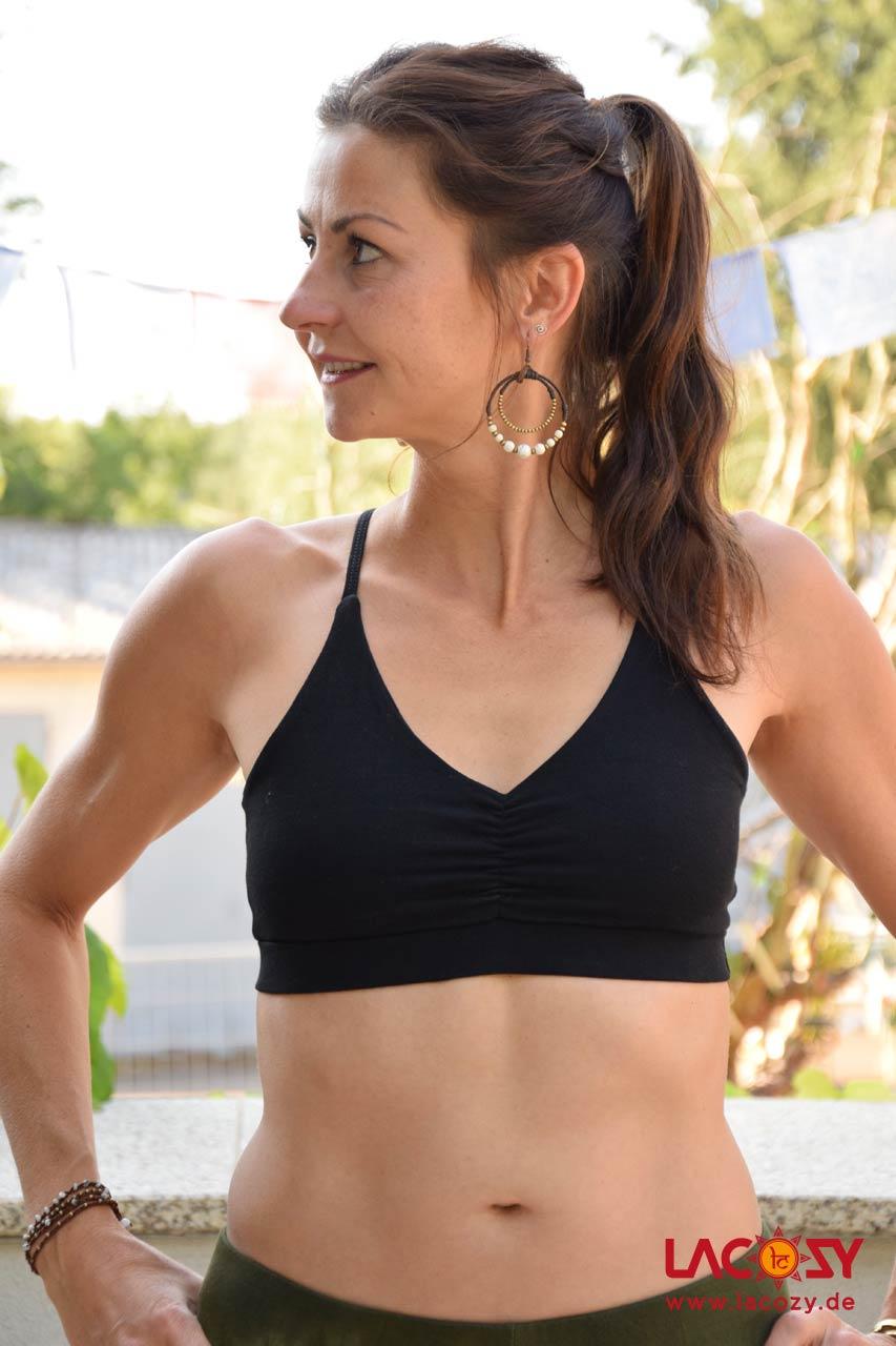 Bustier Top CHI Yoga Oberteil Damen Schwarz