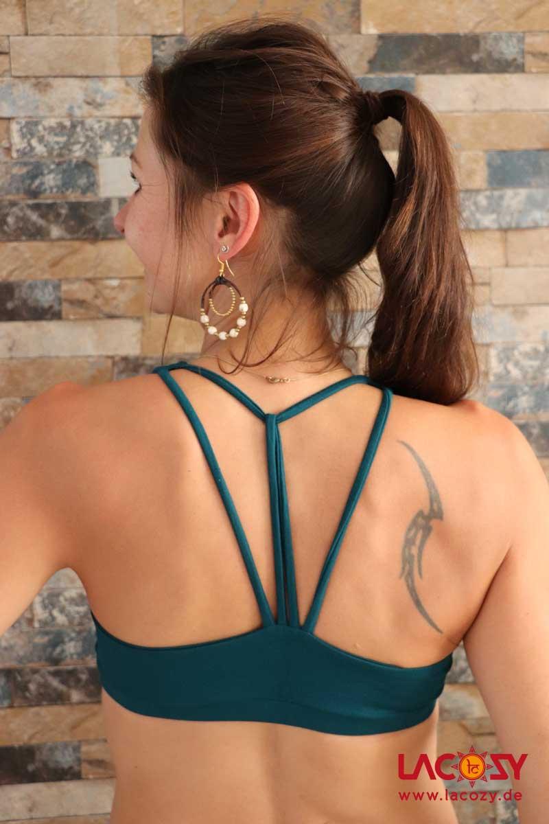 Yoga Top DIAMONDS Bustier Oberteil Damen Petrol