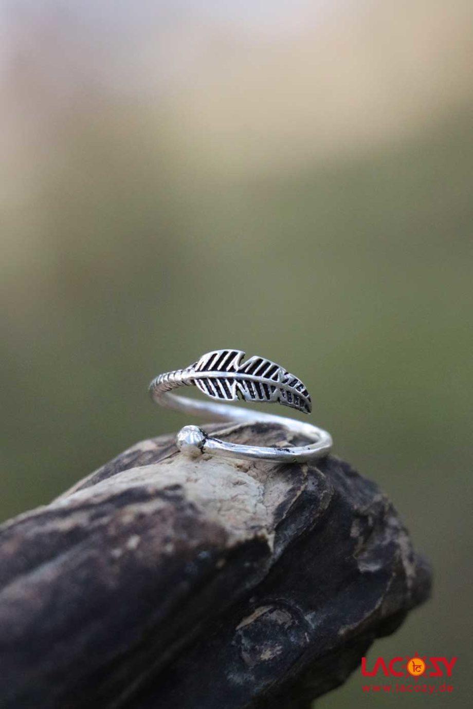 Ring FEDERLEICHT  Silber